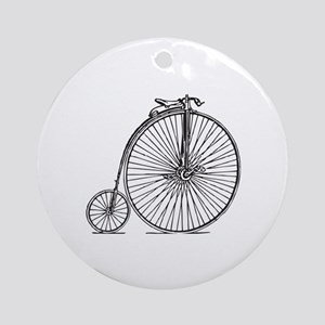 Penny-farthing Vintage Retro High W Round Ornament