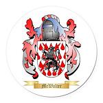 McWalter Round Car Magnet