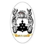 McTeague Sticker (Oval 50 pk)