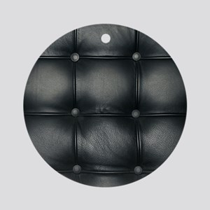 Leather Sofa Texture Round Ornament