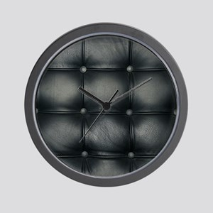 Leather Sofa Texture Wall Clock