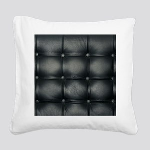 Leather Sofa Texture Square Canvas Pillow