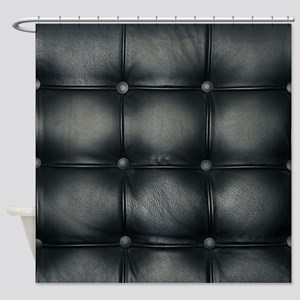 Leather Sofa Texture Shower Curtain
