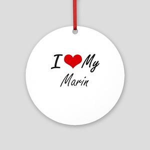 I love my Marin Round Ornament