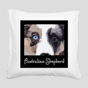 Aussie Eyes Square Canvas Pillow