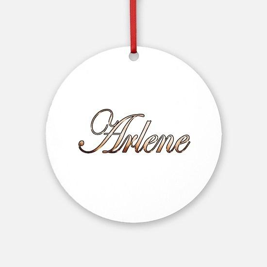 Cute Arlene Round Ornament