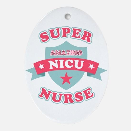 Super NICU Nurse Oval Ornament