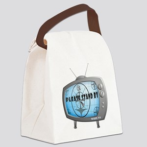 Please Stand By TV Canvas Lunch Bag