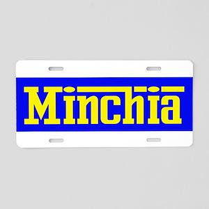 Minchia Aluminum License Plate