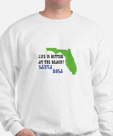 Life is better at the beach Santa Rosa. Sweater