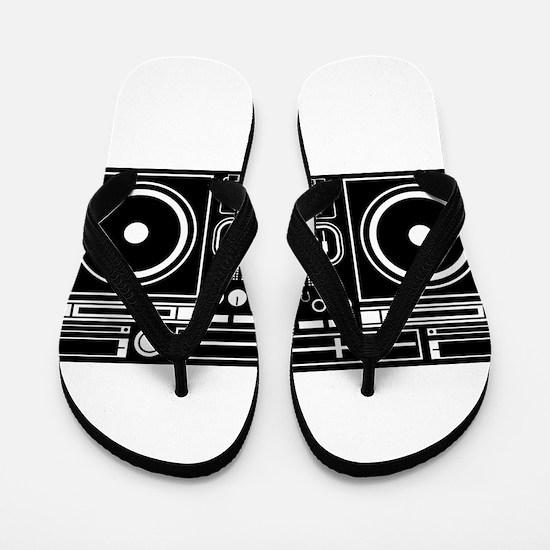 Boombox Tape Double Cassete Music Playe Flip Flops