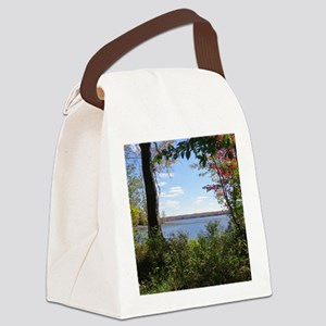 Reservoir Nature Scenery Canvas Lunch Bag