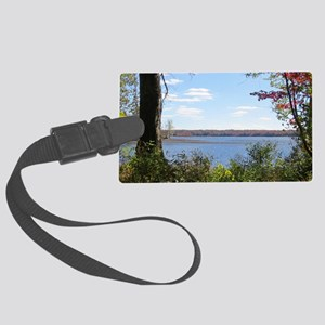 Reservoir Nature Scenery Large Luggage Tag