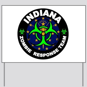 Indiana Zombie Response Team Green Yard Sign