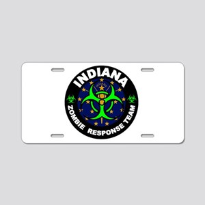 Indiana Zombie Response Tea Aluminum License Plate