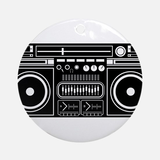 Boombox Tape Double Cassete Music P Round Ornament