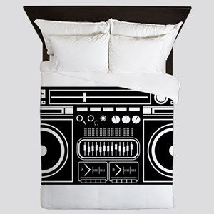 Boombox Tape Double Cassete Music Play Queen Duvet