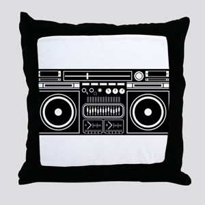 Boombox Tape Double Cassete Music Pla Throw Pillow