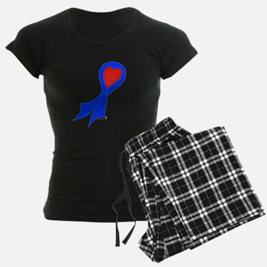 Blue Ribbon with Heart Pajamas