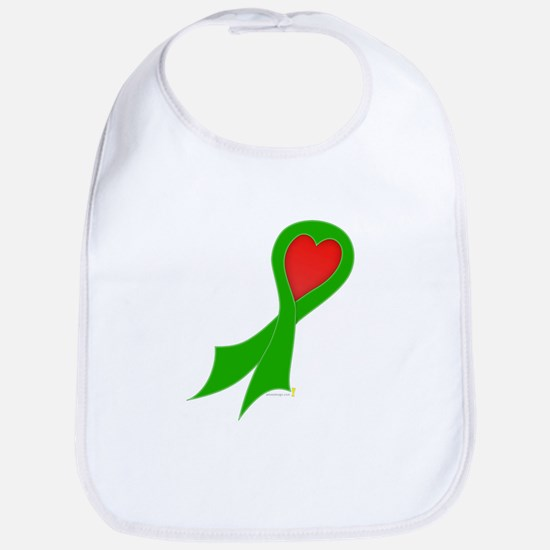 Green Ribbon with Heart Bib