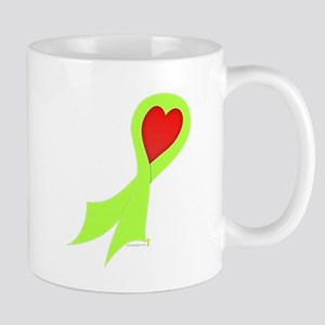 Lime Green Ribbon with Heart Mug
