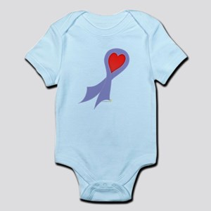 Periwinkle Ribbon with Heart Infant Bodysuit