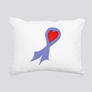 Periwinkle Ribbon with Heart Rectangular Canvas Pi