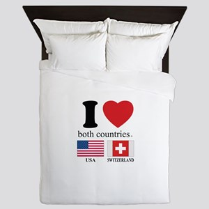 USA-SWITZERLAND Queen Duvet