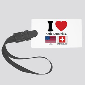 USA-SWITZERLAND Large Luggage Tag