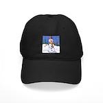 Snowman Black Cap with Patch