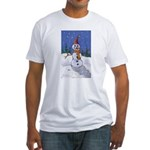 Snowman Fitted T-Shirt