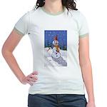 Snowman Jr. Ringer T-Shirt