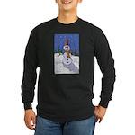 Snowman Long Sleeve Dark T-Shirt