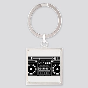 Boombox Tape Double Cassete Music Player Keychains