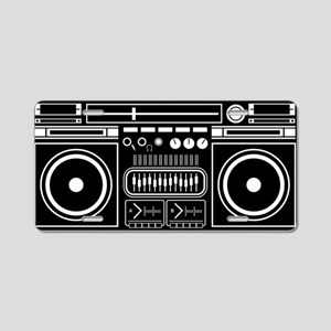 Boombox Tape Double Cassete Aluminum License Plate