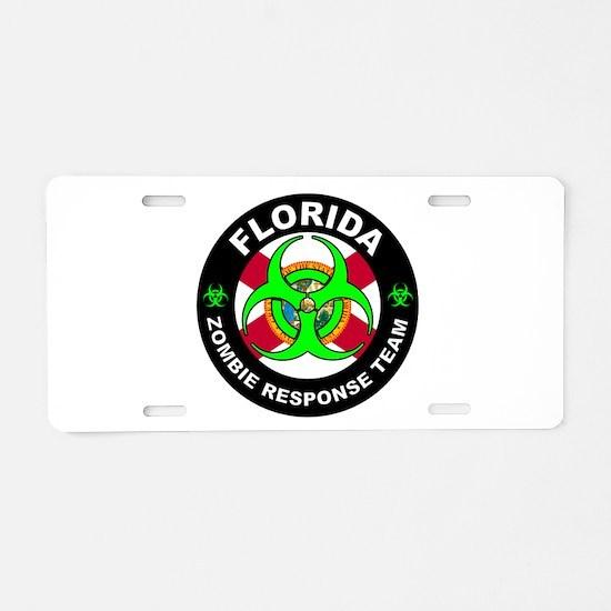 FL ZRT Green Aluminum License Plate