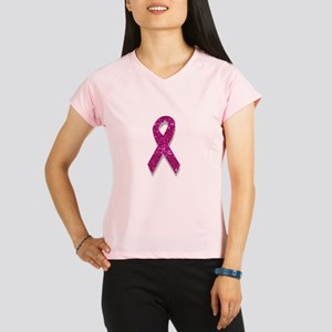 sequin pink breast cancer Performance Dry T-Shirt