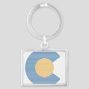 colorado circle Keychains