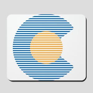 colorado circle Mousepad
