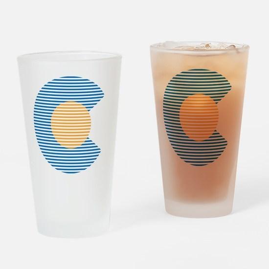 colorado circle Drinking Glass