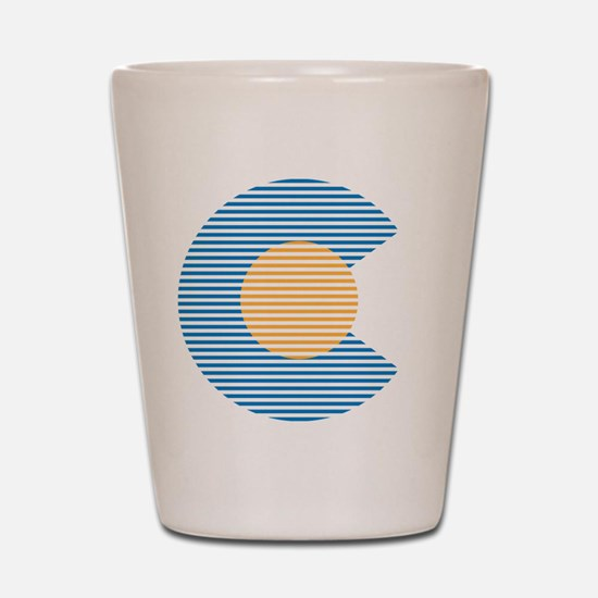 colorado circle Shot Glass