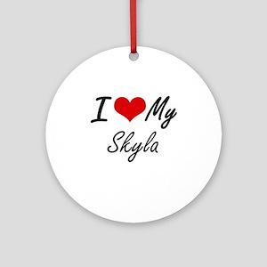 I love my Skyla Round Ornament