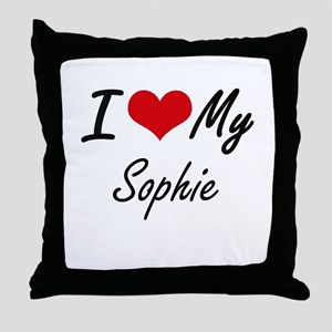 I love my Sophie Throw Pillow