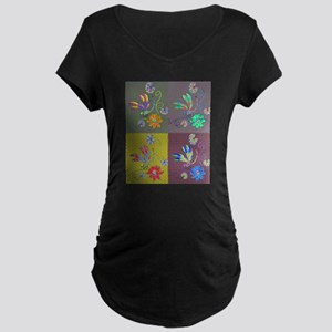 Dragonfly Collage Maternity T-Shirt