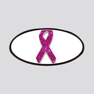 sequin pink breast cancer ribbon Patch