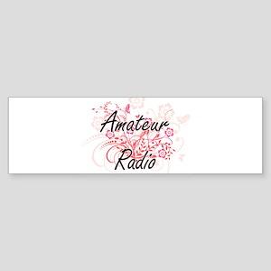 Amateur Radio Artistic Design with Bumper Sticker