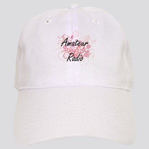 Amateur Radio Artistic Design with Flowers Cap