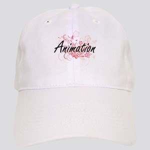 Animation Artistic Design with Flowers Cap