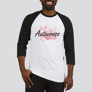 Autocross Artistic Design with Flo Baseball Jersey