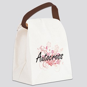 Autocross Artistic Design with Fl Canvas Lunch Bag